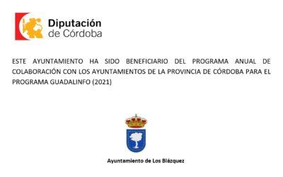 PROGRAMA ANUAL DE COLABORACIÓN CON LOS AYUNTAMIENTOS DE LA PROVINCIA DE CÓRDOBA PARA EL PROGRAMA GUADALINFO