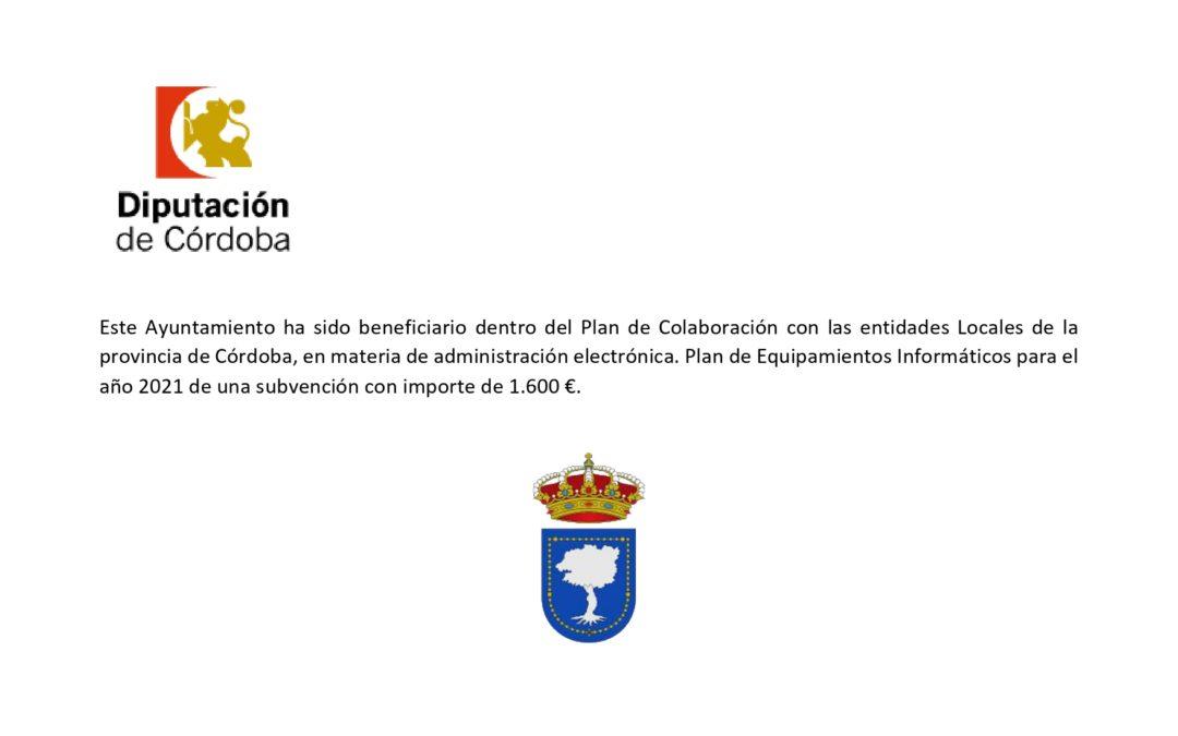 PLAN  DE EQUIPAMIENTOS INFORMÁTICOS 2021