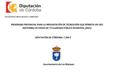 PROGRAMA PROVINCIAL PARA LA IMPLANTACIÓN DE TECNOLOGÍA QUE PERMITA UN USO SOSTENIBLE DE POZOS DE TITULARIDAD PÚBLICA MUNICIPAL.